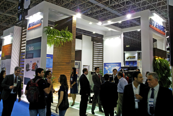estande STEMAC na Rio Oil & Gas 2012